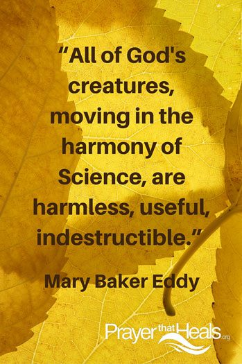 All of God's creatures, - a Mary Baker Eddy Quote